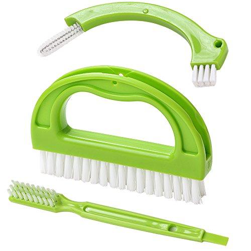 Fliesenbürste 3St für Bad Küche Haushalt Reinigt effektiv Fugenfliesen und Fensterrahmen Grün