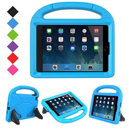 LTROP Apple iPad Mini 1 2 3 4 5 Kids Case Light Weight Shock Proof Handle Friendly Convertible Stand Kids Case for iPad Mini, Mini 5, Mini 4, iPad Mini 3rd Generation, iPad Mini 2 Tablet Blue