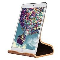 SAMDI Wooden for iPad Stand, Tablet Stand: Desktop Stand Holder Dock for iPad Pro 10.5/9.7/12.9, iPad mini 2 3 4, iPad Air 2, iPhone X 8 7 Plus, Nintendo Switch, Samsung Galaxy Tab S8 (Black Walnut)