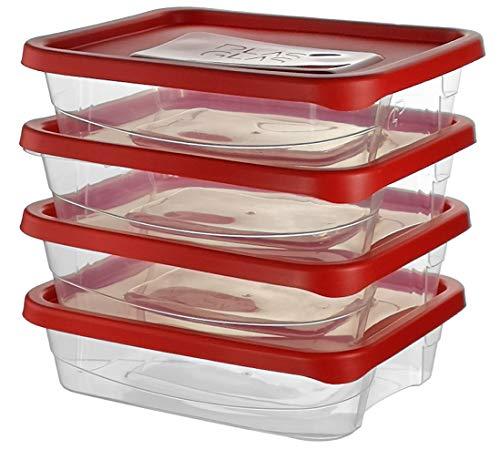 Premium Frischhaltedosen | Storage Container | Vorratsdosen | BPA frei & spülmaschinengeeignet | Mikrowellen-geeignet und Gefrierschrank-geeignet | Luftdicht | Aufbewahrungsdose (4er Pack - 1.7 L) -