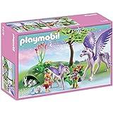 Playmobil - 5478 - Figurine - Enfants Royaux Avec Cheval Ailé Et Son Bébé