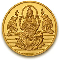 P.N.Gadgil Jewellers 5 grams 24k (995) Yellow Gold Laxmi shree Precious Coin