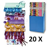 20 Rollen Geschenkpapier Everyday Mix Papier 2m x 0,70m