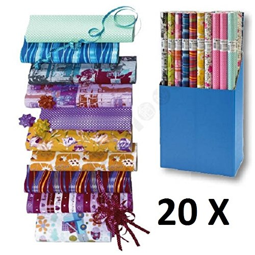 20 Rollen Geschenkpapier Everyday Mix Papier 2m x 0,70m