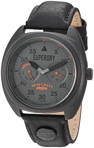 Superdry Homme Analogique Quartz Montre avec Bracelet en Cuir SYG229BB