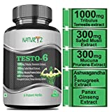 Naturyz Testo-6 Supplement For Men with 1000mg Tribulus Terrestris Extract, Safed Musli Extract