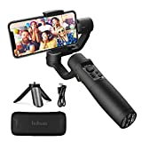 3-Axis Gimbal Stabilizer for Smartphone - Hohem iPhone Gimbal Stabilizer with Face Tracking Motion Time-Lapse APP Control VLOG Equipment for iPhone 11 Pro Max/Samsung/Huawei (iSteady Mobile Plus)