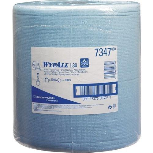 Preisvergleich Produktbild Kimberly Clark 7347 WYPALL L30 Wischtücher,  Großrolle,  Blau (1000-er Pack)