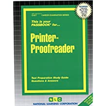 Printer Proofreader (Passbook for Career Opportunities)