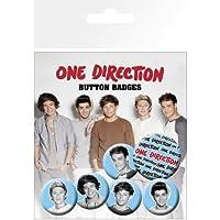 Nosoloposters GB eye LTD, One Direction, Blanco y Negro, Pack de Chapas