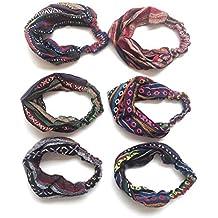 HC Enterprise,Cinta pañuelo para cabeza,estampado etnico,multicolor ,3 unidades