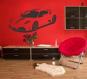 Wandtattoo auto ferrari f430 scuderia 140x68 rakel - Wandtattoo ferrari ...