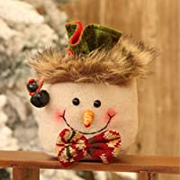 Carolilly Bag Sweet Christmas Children Gift Bag Decorative Gifts in the Shape of Santa Claus Snowmen One Size B2