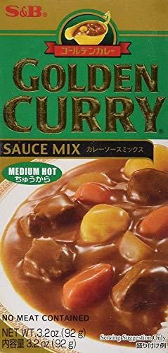S&B Golden Curry Saucen Mix Medium Hot mittelscharf 92g (Goldener Curry Mix)
