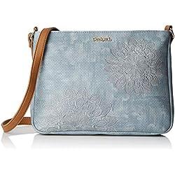 Desigual Bag Atila Espot Women, Sacs bandoulière femme, Bleu (Azul Palo), 5x22.7x30 cm (B x H T)