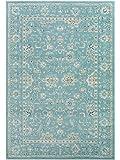 Benuta Teppich Vintage Velvet Blau 140x200 cm - Vintage Teppich im Used-Look