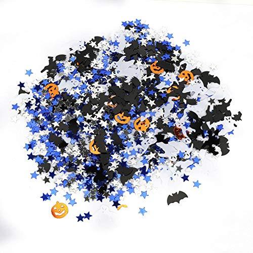 Halloween Konfetti, Kürbis Spinne Fledermaus Hexe Buchstaben Tischkonfetti für Halloween Party Dekor(Gemischtes Modell)