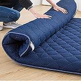 hxxxy Japanisches Tatami Boden Matte,Verdickte japanischen futon matratzenauflage schlafen pad Faltbare dicken zusammenklappbar Portable-Blau 120x200cm(47x79inch)