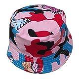 UJUNAOR Herren Damen Fischerhut Einstellbare Kappe Blumendruck Boonie Hüte Eimer Hut(F)