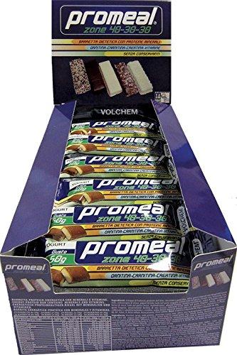promeal-zone-40-30-30-volchem-barretta-dieta-a-zona-36-barrette-da-26g-gusto-cacao-fondente-dark