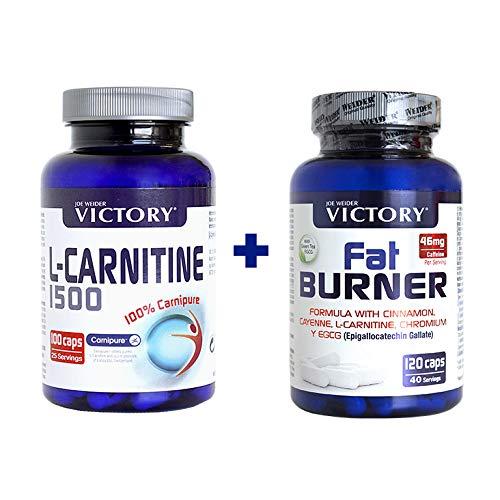 JOE WEIDER VICTORY PACK L-Carnitine 1500 100 Caps + Fat Burner 120 Caps