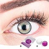 Sehr stark deckende und natürliche graue Kontaktlinsen SILIKON COMFORT NEUHEIT farbig