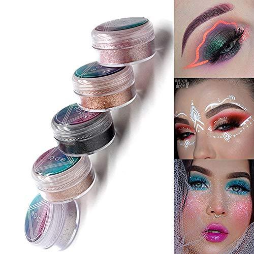 NICOLE DIARY Maquillage Glitter Fard À Paupières Poudre Shimmer Paillettes Cosmétiques À Haute Brillance Poudre Métallique Ombre À Paupières Poudre À Lèvres Nail Art Décoration (10 Couleurs)