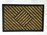 Rug Belt Natural Coir and Rubber Doormat with Scroll Border | Natural fibers