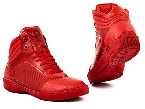 PHINOMEN Luxus Sneaker - Echtleder - Handarbeit made in italy - PHIre Red Gr. - Luxus-sneakers