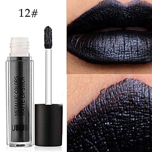 Lipgloss Set, KIMODO UBUB Metall Perle Lippenstift Feuchtigkeitscreme Samt Lippenstift Kosmetik...