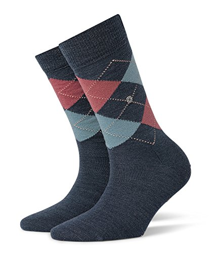Burlington Damen Socken Marylebone, 5 DEN, Blau (Dark Blue Mel. 6688), 36/41