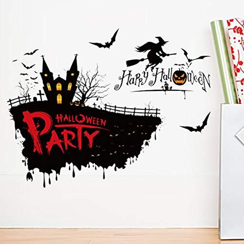 ber Halloween Kreative PVC Wohnzimmer Home Schlafzimmer Dekoration Aufkleber Abziehbilder Selbstklebende Kunst Abnehmbare 57X74 cm ()