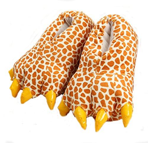 Cartoon Tierpfoten warme Schuhe zu Hause Schuhe neutral weiche Pfoten Plüschpantoffel Schuhe Giraffe