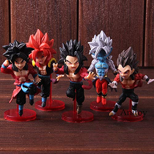 ll WCF Super Dragon Ball Helden Vol. 3 Son Goku Gohan Vegeta Gogeta Super Saiyajin 4 Anime Action-Figuren Spielzeug 5 Teile / Satz ()