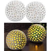 Lunartec LED Kugel: Kabellose LED-Dekoleuchten aus Keramik im 2er-Set (Leuchtkugeln)