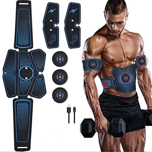 SCARVT Electroestimulador Muscular Abdominales Cinturón Electroestimulador Abdominal USB Recargable...
