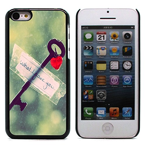 Graphic4You I Will love you Design Harte Hülle Case Tasche Schutzhülle für Apple iPhone 5C Design #4