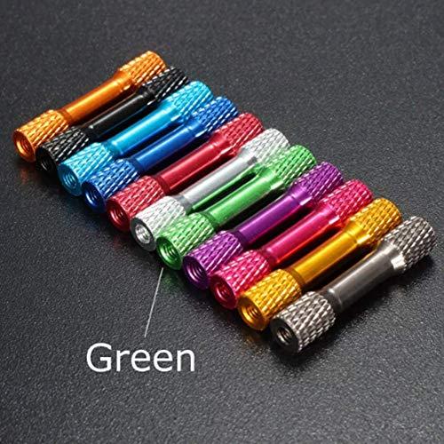 TuToy M3Ar3 10Pcs M3 35Mm Knurled Standoff Aluminum Alloy Multicolor - Grün