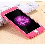 TUZECH iPhone 6 6S 360 Smart Case with Logo Visible + Free Temper-Guard (Pink Colour) (Apple iPhone 6 Plus/6sPlus)