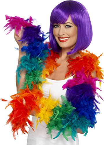 Smiffy's 43517 - Federboa Regenbogen, 80 (S Rainbow Kostüm 80)