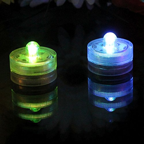 PK Green 10 Luces LED bajo agua, sumergibles – color cambiante
