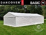 Dancover Lagerzelt Zeltgarage Garagenzelt-Basic 2-in-1, 5x8m PE, weiß