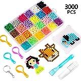 Yosemy Abalorios Cuentas de Agua 3000 Perlas 24 Colors Fusible de Agua Craft Sticky Kit Set para Niños Niños Crafting Juguetes Educativos