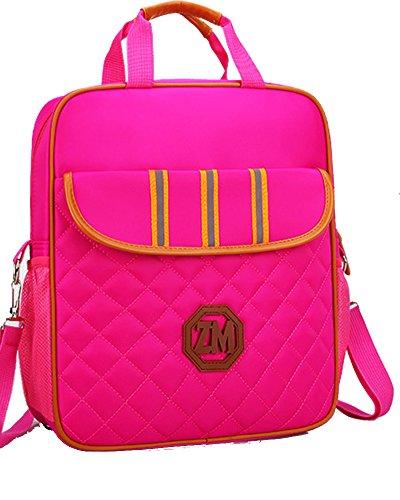 Rucksack Mädchen Canvas Rucksack Handtasche Schultaschen Schulranzen Lässiger Schulrucksack für Mädchen Jugendliche Jungen Rose1 Einheitsgröße