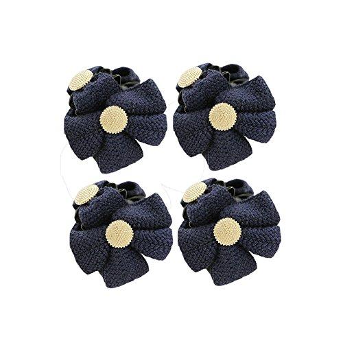 Ensemble de 4 belle épingle à cheveux / Bowknot pince cheveux, marine
