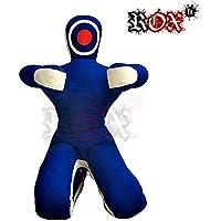 """Grappling dummy Rox ajuste mma realista Judo bolsa de boxeo Grappling Dummy–Posición sentada–Manos frontal azul blanco, 5 Foot (60"""") - 150 cm"""