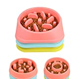 #10: Alcoa Prime Plastic Anti Choke Pet Dog Bowl Feeder Divertente Slow Down Mangiare Feeder Dish plate drop ship for puppy