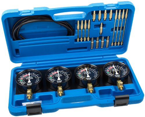Preisvergleich Produktbild Asta TIT-085 Synchrontester 4 Uhren Vergaseruhren prüfen PkW Synchronuhren KFZ Auto Vergaser Tester einstellen synchronisieren