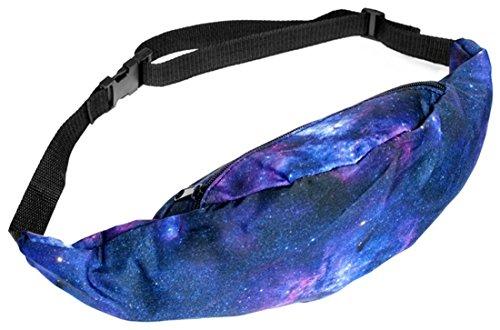 Kukubird Varia Stampa Cintura Marsupio Borsa Con Sacchetto Di Polvere Di Kukubird Galaxy