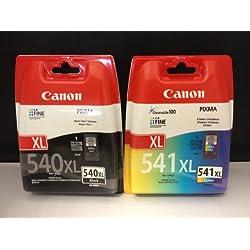 2 Cartouches d'encre originales XL pour Canon Pixma MG 3550 MG3550 (Noir /Couleur) Cartouches d'encre